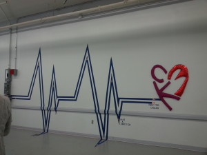 Beautiful Makey-Makey wall sound sculpture with heartbeat